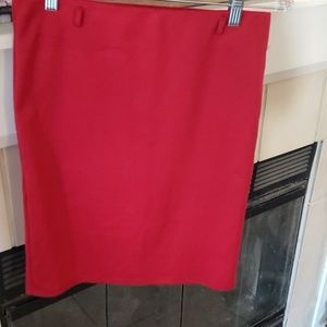 Red stretchy mini skirt
